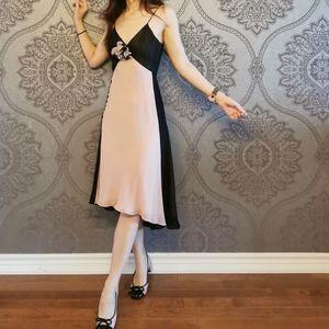 BCBG MaxAzria 100% silk dress with embellishment